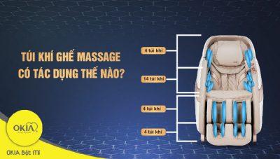 Túi khí ghế massage có tác dụng như thế nào?